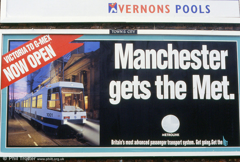 An example of a 48 sheet poster used during the Metrolink opening campaign.