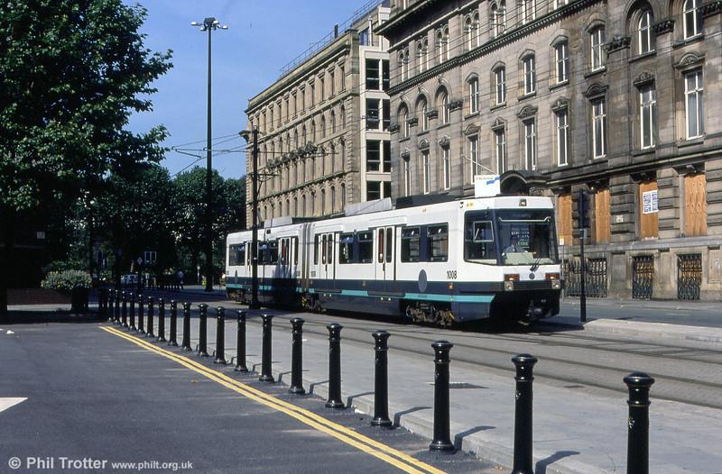 1008 at Aytoun Street heading for Piccadilly Station on 30th September 1993.