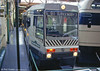 The pre-production prototype, now numbered 1000, has been repainted in fleet livery and is on display at the Greater Manchester Museum of Transport, Boyle Street as seen in September 1996.