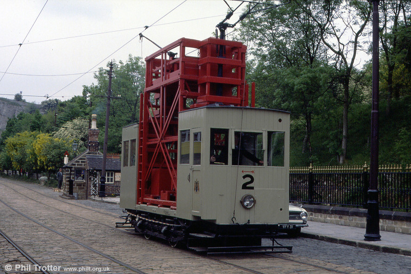 Leeds Tower Car 2 was built in 1932 with parts from other trams. It makes a rare outing on 20th May 1990.