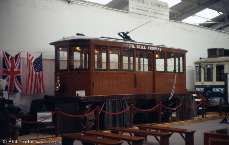 Brussels snowbroom no. 96 is an American style Brill snowbroom that dates from 1906 and which was withdrawn in 1971. It was acquired from the West Yorkshire Transport Museum in 1995 and is displayed in 'as new' condition as a Brill demonstrator. September 1997