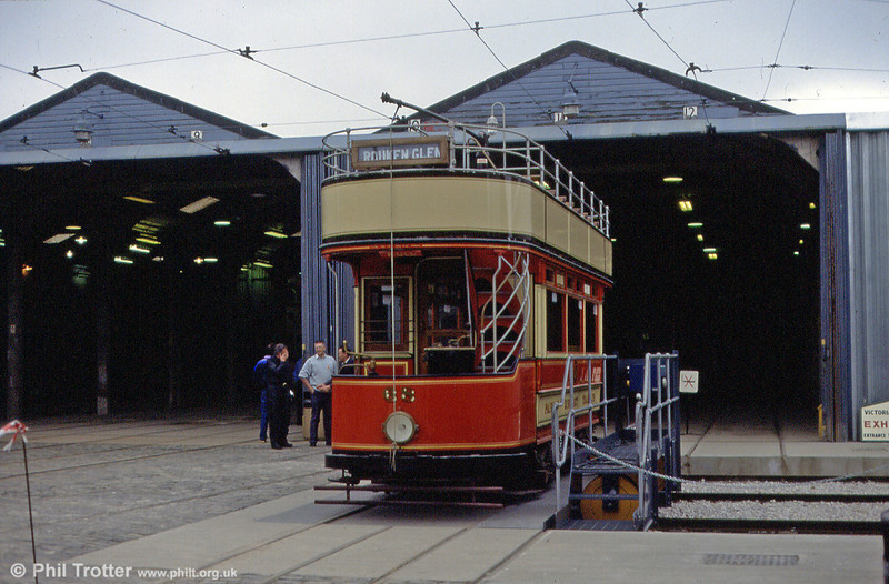 Paisley 68 is seen on the depot traverser on 19th May 1991.