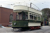 Derby Corporation Tramways ran to the unusual gauge of 4'. Derby 1 dates from 1904 and is seen on 18th May 1991.