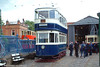 A second view of Leeds 345. Built in 1921 and one of the earliest arrivals at Crich, 345 owes its survival to being used in departmental service. 12th June 2005.