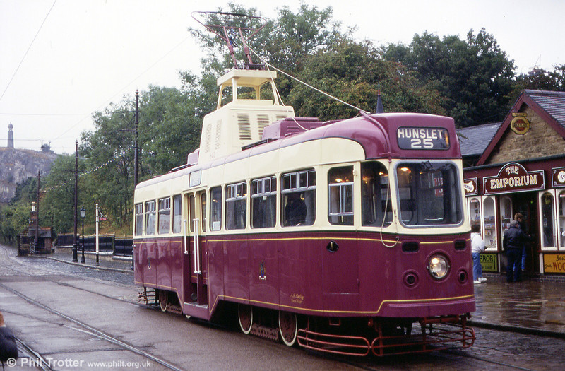 Leeds 602 in its unique 'royal' purple and ivory livery on 29th September 1991.