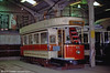 Southampton 45 has the distinction of being the very first tram acquired for the collection as far back as 1949, although it led a fairly nomadic life until the museum was established. Built in 1903, it had seating for 56. 20th May 1990.