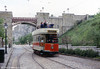 Southampton 45 against a backdrop of the Bowes-Lyon Bridge on 18th May 1991.