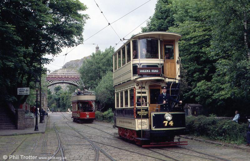 Sheffield 74 in action in September 1997.