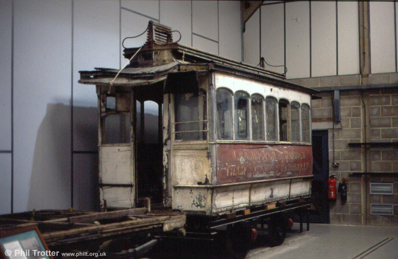 Leamington & Warwick horse car 1 of 1881 seen in as found condition in September 1997.
