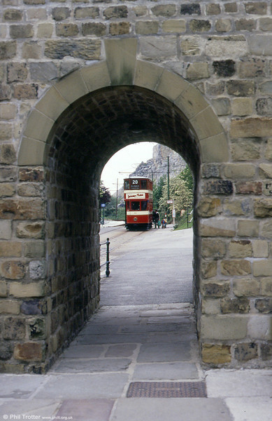 Leeds 180 seen through an arch of the Bowes-Lyon Bridge on 19th May 1990.