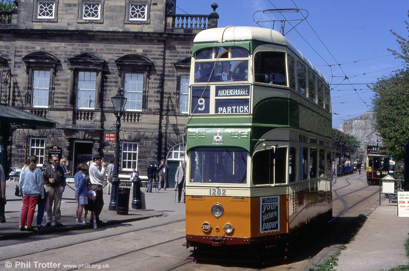 Glasgow 1282 at town end with the Derby Assembly Rooms facade, which dates from 1764, on 17th May 1992.
