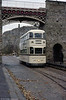 Sheffield 510 passes over the interlaced track beneath the Bowes-Lyon Bridge on 28th October 1989.