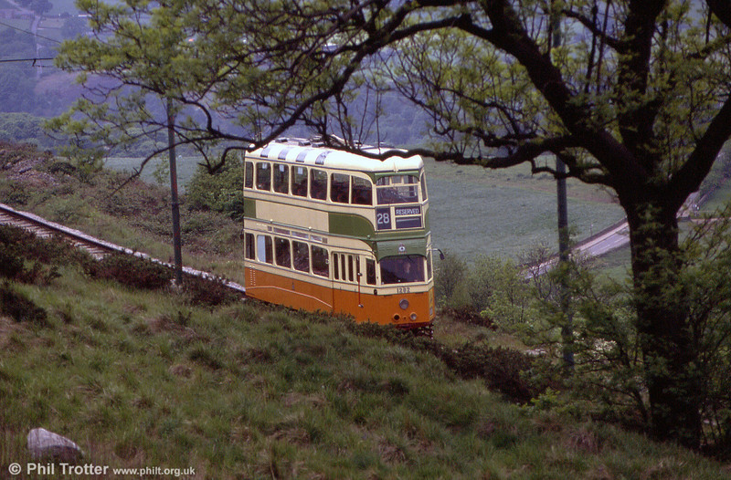 Glasgow 1282 between Wakebridge and Glory Mine on 20th May 1990.