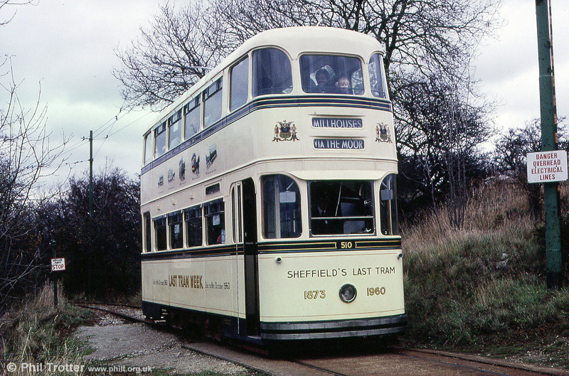 Sheffield 510 at Glory Mine terminus on 28th October 1989.