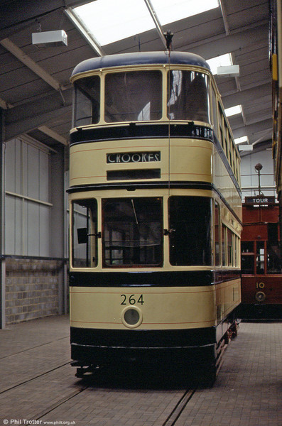Sheffield 264 is a rebuilt standard car dating from 1937. 18th May 1991.