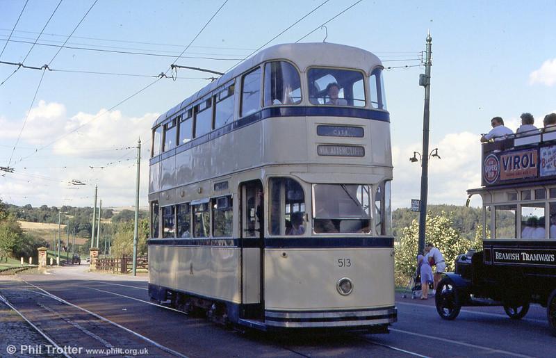 Sheffield Roberts car 513 of 1950 at Beamish on 3rd September 1990.