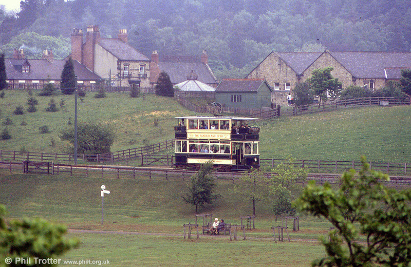 Sheffield 264 in the landscape at Beamish on 24th May 1992.
