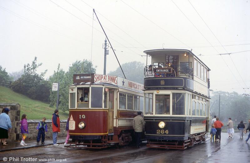 Sheffield 264 and Gateshead 10 pass at Beamish on 24th May 1992.