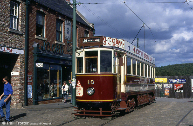 Former Gateshead 10 in the reconstructed street at the North of England Open-air Museum, Beamish on 3rd September 1990.