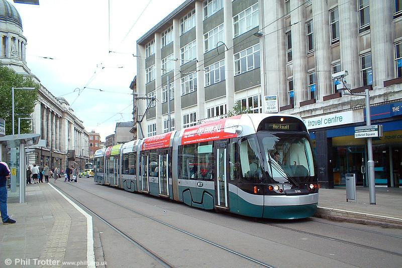 Car 210 at Old Market Square on 29th May 2004.