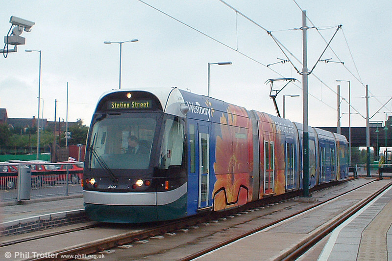 Car 209 in its Westbury Homes livery at Hucknall on 29th May 2004.