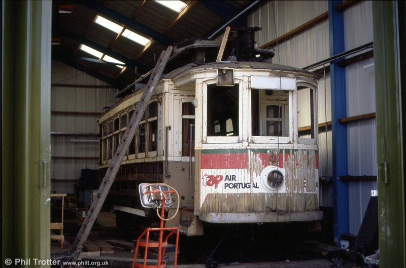 Oporto 150 at Summerlee Heritage Museum on 4th September 1990. Oporto 150 was bought in order to use its equipment for the restoration of Lanarkshire 53, and was subsequently broken up.