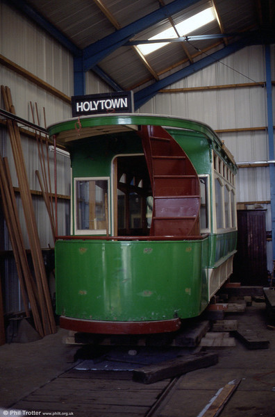 Lanarkshire 53, dating from 1908, undergoing restoration at the Summerlee Heritage Trust, Coatbridge on 4th September 1990.