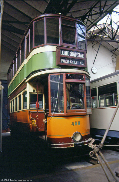 Glasgow's forgotten tram? Standard car 488 lingering at the back of the Paris Transport Museum, St. Mandé in August 1984.