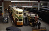 An overview of the Glasgow Transport Museum at Kelvin Hall on 4th September 1990.