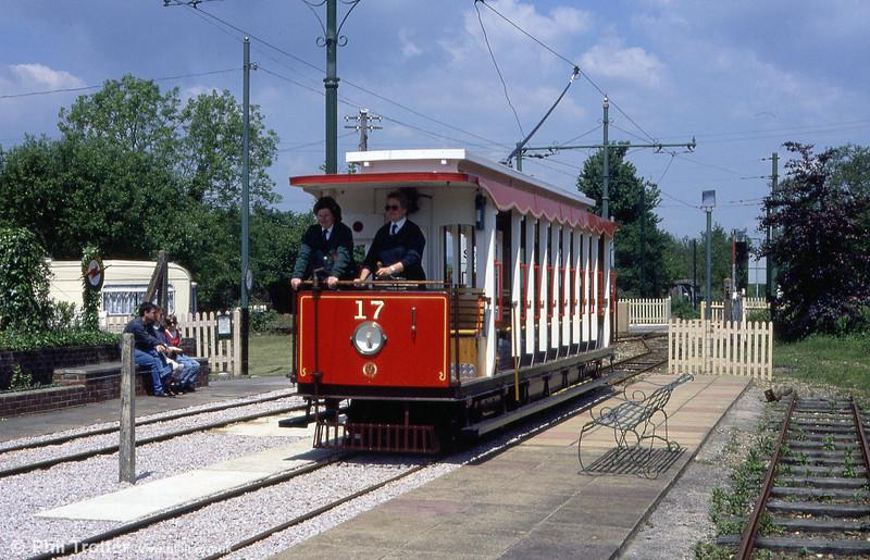 Car 17 calls at Colyford on 30th May, 1994.
