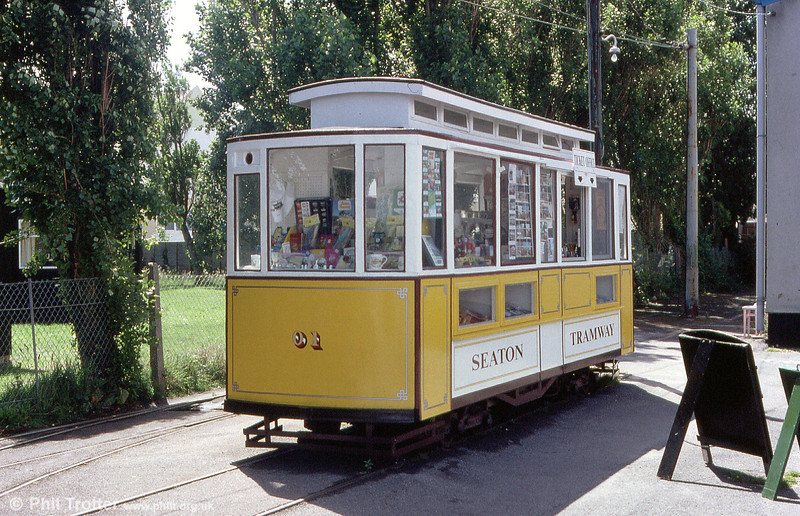 Car 01 is a mobile shop trailer. It has its origins in 1954 and was converted to a works car in 1966 and to a shop in 1966. 30th June 1990.