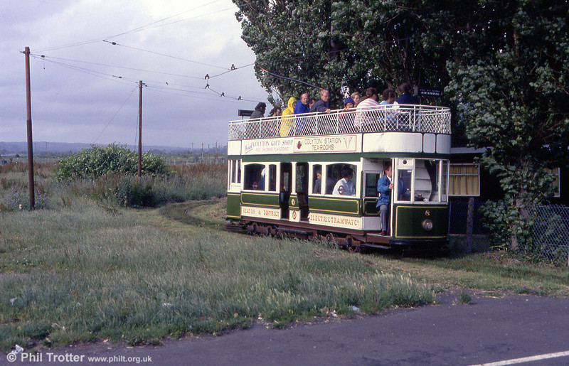 Car 8 approaches Seaton on 30th June 1990.