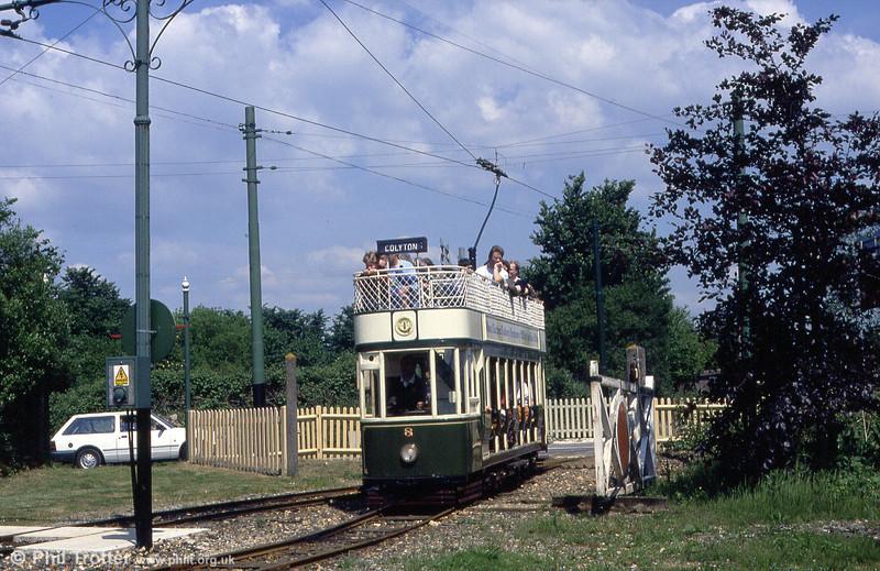 Car 8 at Colyford crossing on 30th May, 1994.