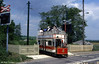 Seaton car 2 crossing the A3052 road at Colyford on 30th May, 1994.