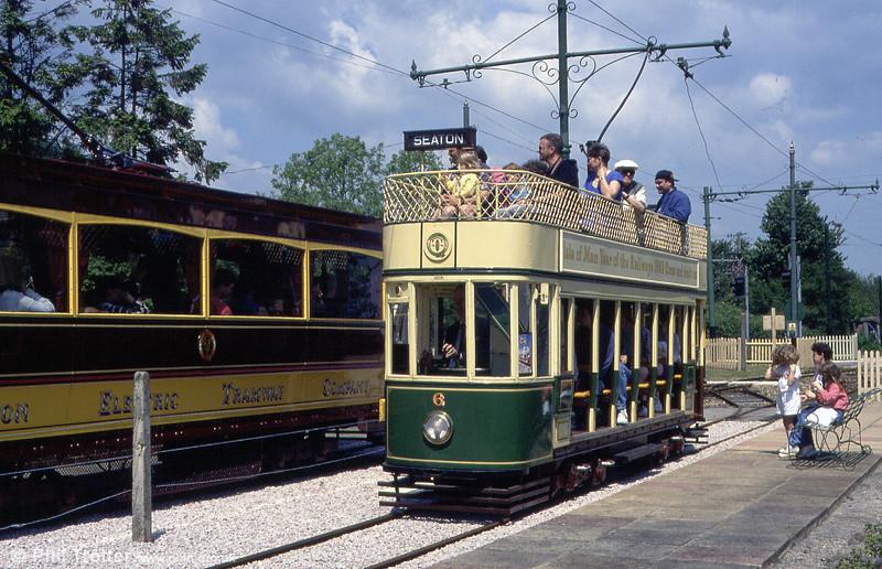 Car 6 at Colyford on 30th May, 1994. Seating capacity is 39.