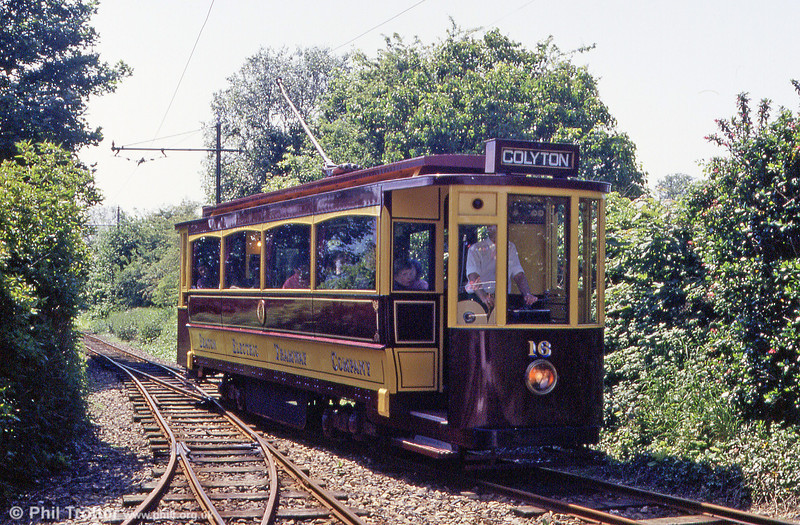 Car 16 approaching Colyford on 30th May, 1994.
