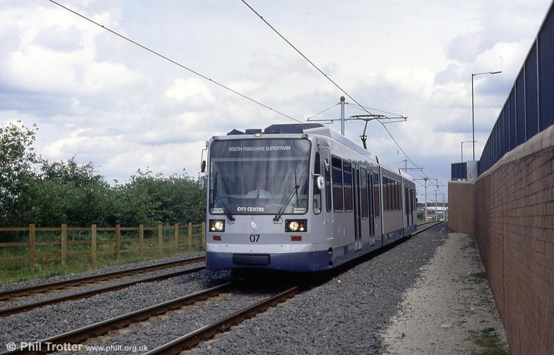 Sheffield car 07 at Hyde Park, 4th June 1994.
