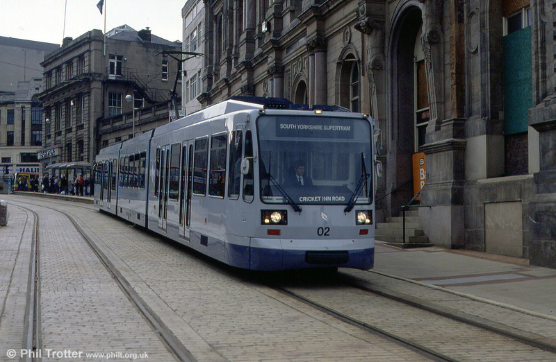 Sheffield car 02 in Commercial Street, June 1994.