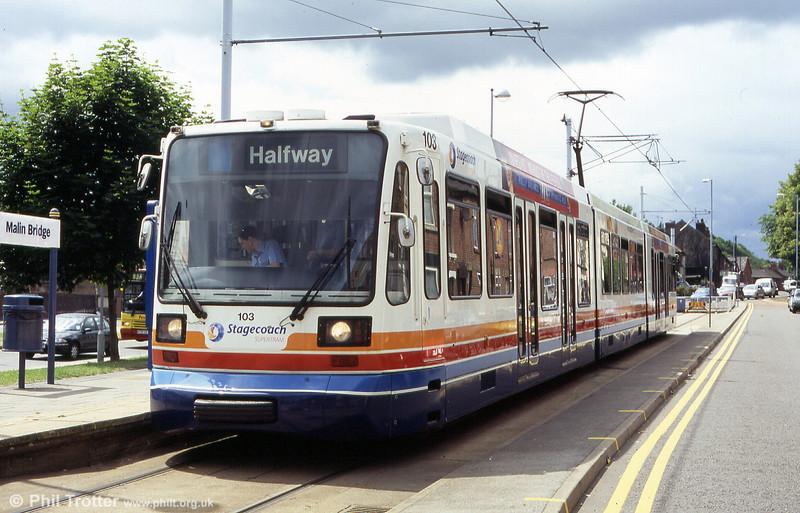 103 at Malin Bridge terminus on 20th June 2004.