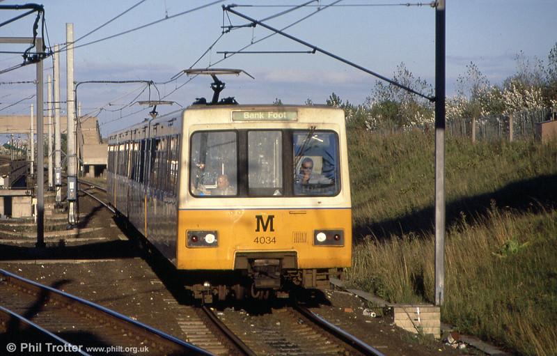 Unit 4034 at Pelaw on 3rd September 1990.