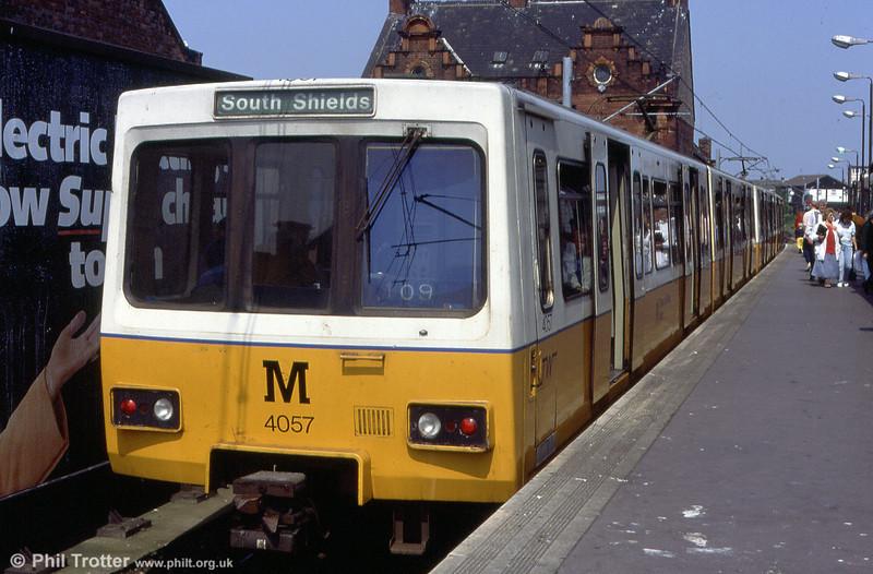 4057 waits at South Shields on 25th May 1992.