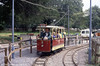 Car no. 1 of the Heath Park Electric Tramway in action on 27th August 1990.