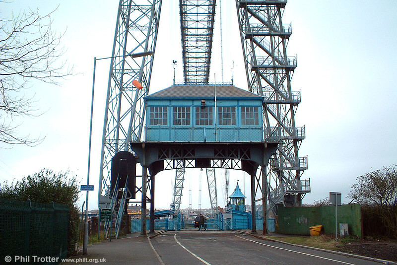 A view of the motor house at the eastern side of the river. The bridge operates approximately every 15 minutes and can carry up to six cars or light commercial vehicles. 16th March, 2005.