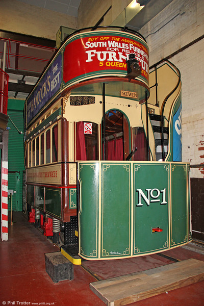 The surviving Neath gas tram is now on display at Cefn Coed Colliery Museum, Crynant, Neath but is not easily photographed. 10th September 2011.