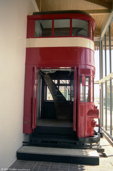 A second view of the cab section from the Mumbles end of Swansea and Mumbles car 7 seen in October 1989.