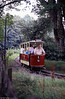 Heath Park Tramway, Cardiff no. 1 on the wooded section of the route on 27th August 1990.