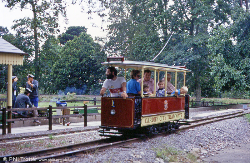 Another view of car no. 1, built in 1973, of the Heath Park Electric Tramway on 27th August 1990.