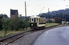 Dudley & Stourbridge 5 makes its way along the running line on 10th September 1989. The car is a Tividale single decker of 1920 and typifies the style of car used on the Black Country network.