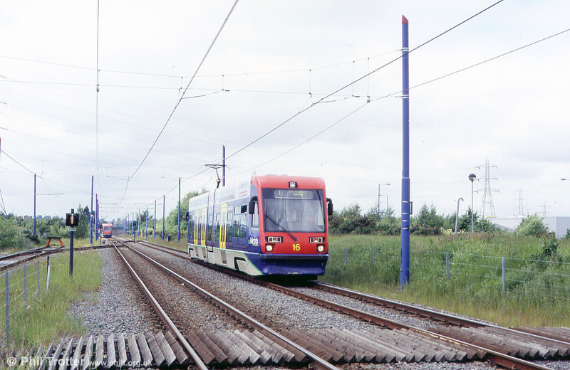 Car 16 at Wednesbury Parkway on 5th June 2004.