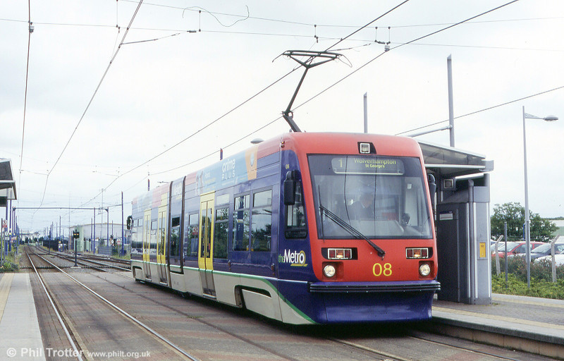 Car 08 at Wednesbury Parkway on 5th June 2004.